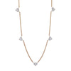 Shay Multi Heart Diamond Necklace - Yellow Gold - Necklaces - Broken English Jewelry