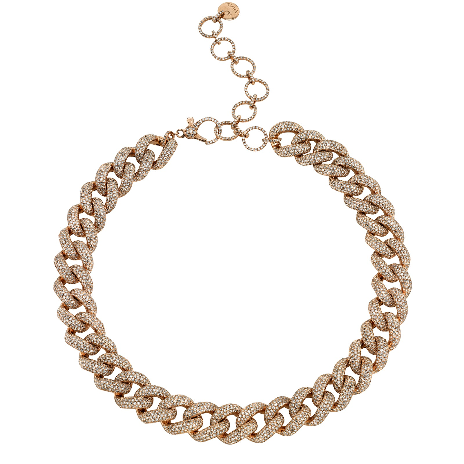 Shay Jumbo Diamond Link Necklace - Rose Gold - Necklaces - Broken English Jewelry