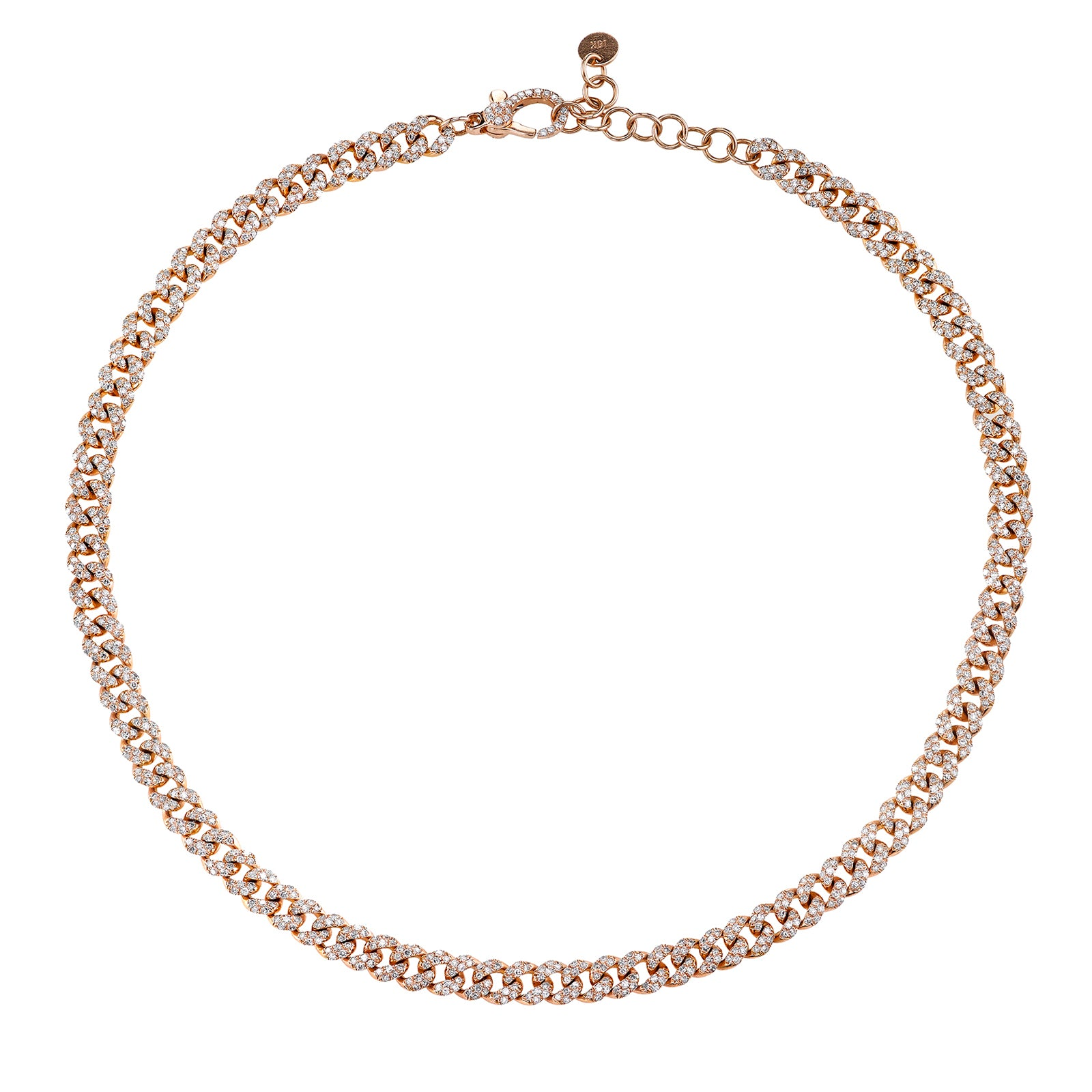 Shay Mini Diamond Link Necklace - Rose Gold - Necklaces - Broken English Jewelry