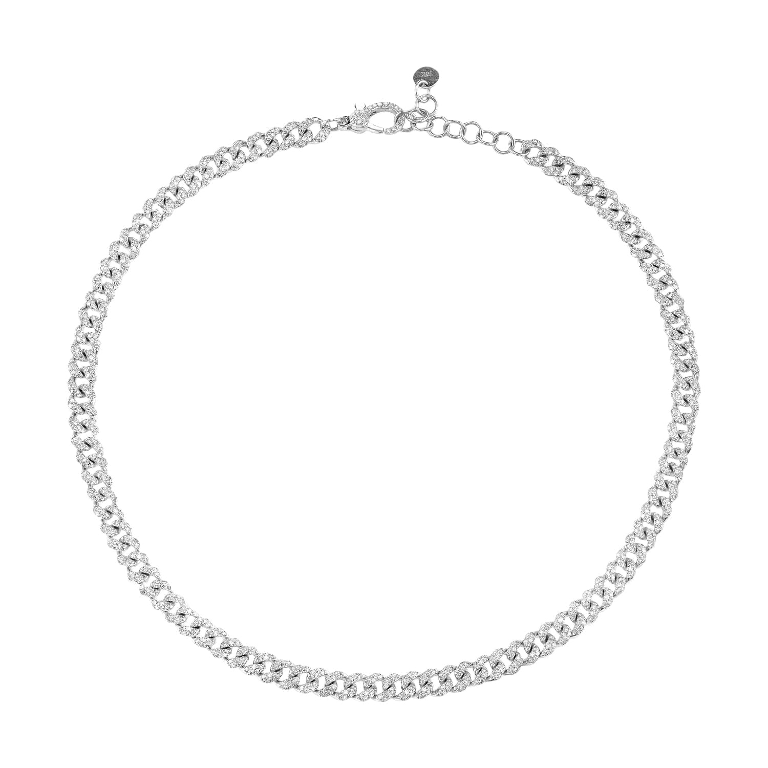 Mini Pave Link Choker - Shay - Necklaces | Broken English Jewelry