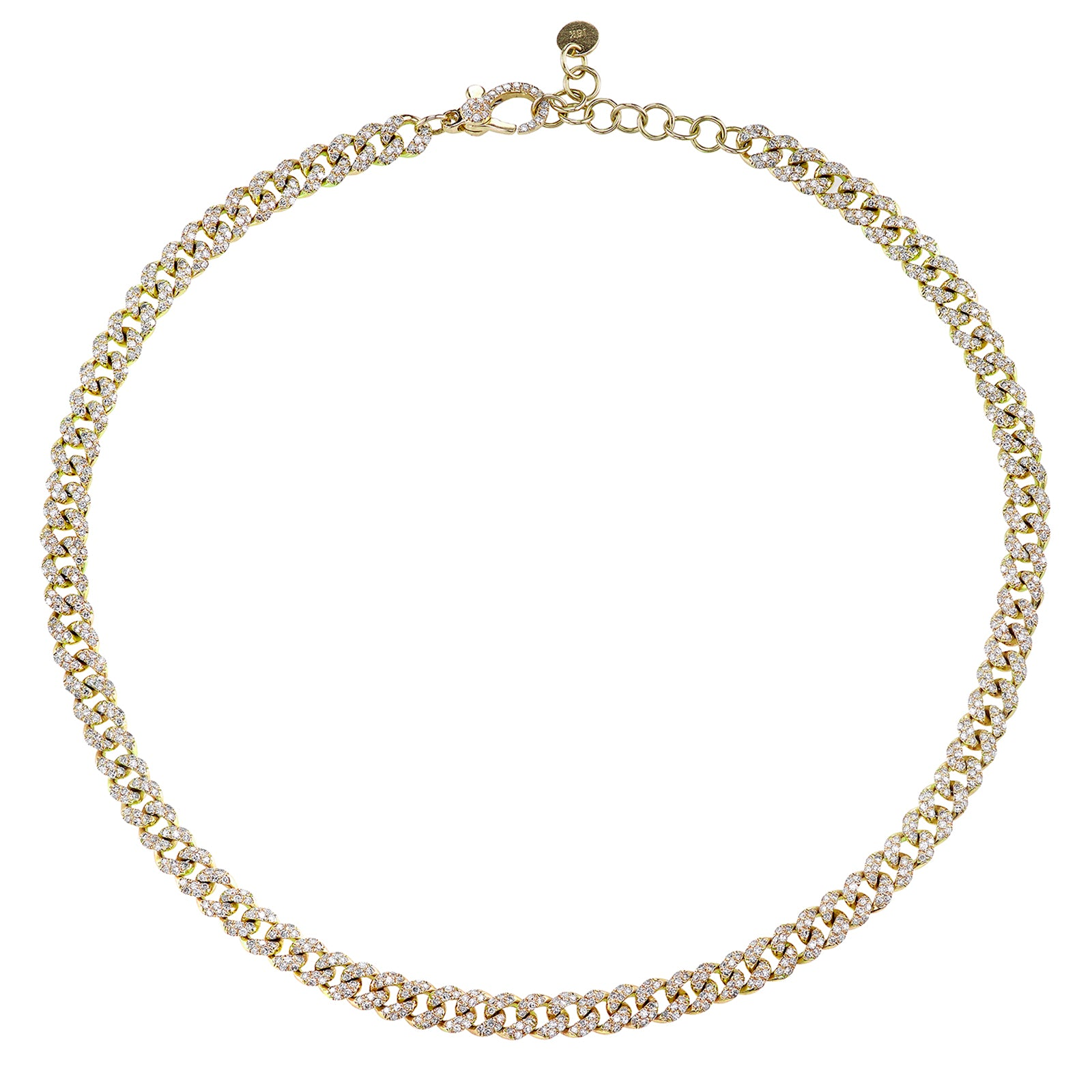 Shay Mini Pave Diamond Link Choker - Necklaces - Broken English Jewelry