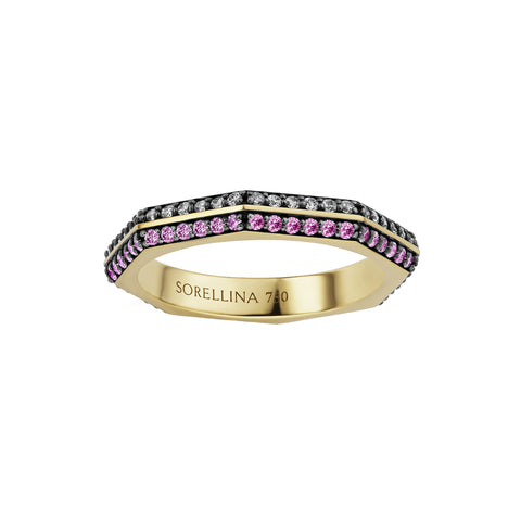 Two-Tone Otto Band by Sorellina for Broken English Jewelry