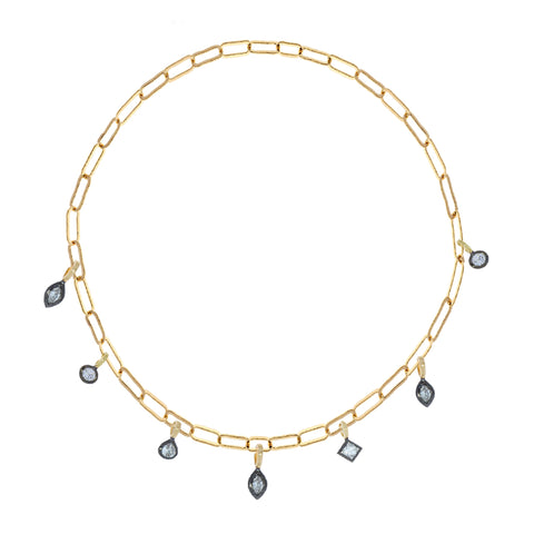 Multi-Shape Diamond Necklace by Sorellina for Broken English Jewelry