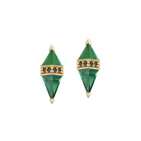 Green Pietra Studs by Sorellina for Broken English Jewelry