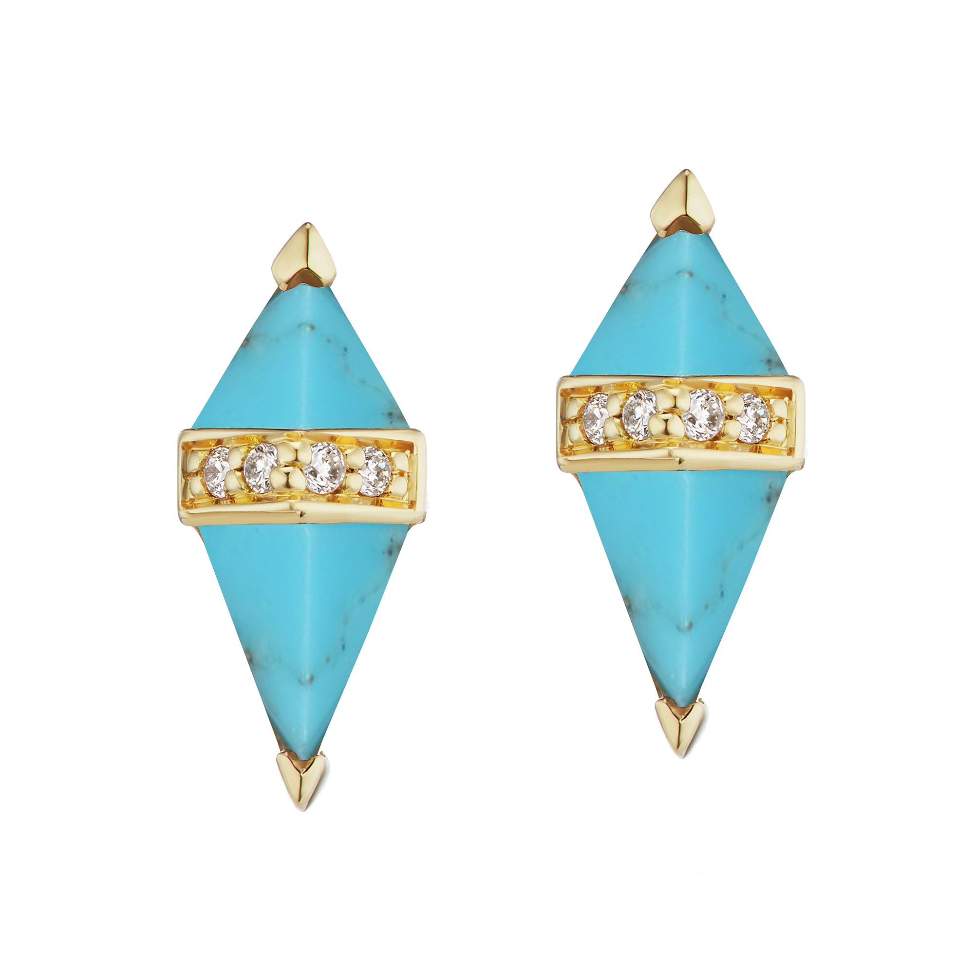 Turquoise Pietra Studs by Sorellina for Broken English Jewelry
