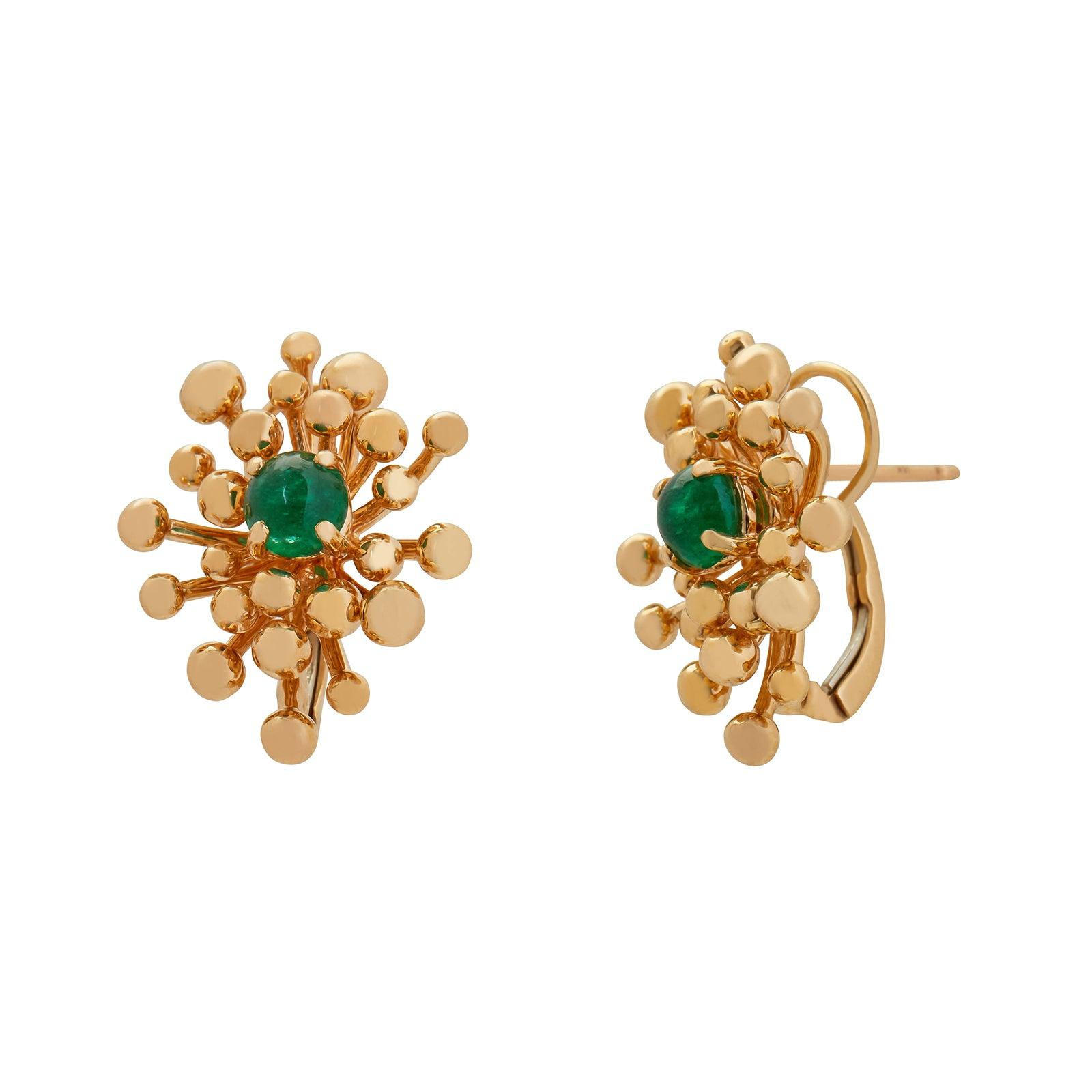 VRAM Nocturne Studs - Emerald - Earrings - Broken English Jewelry