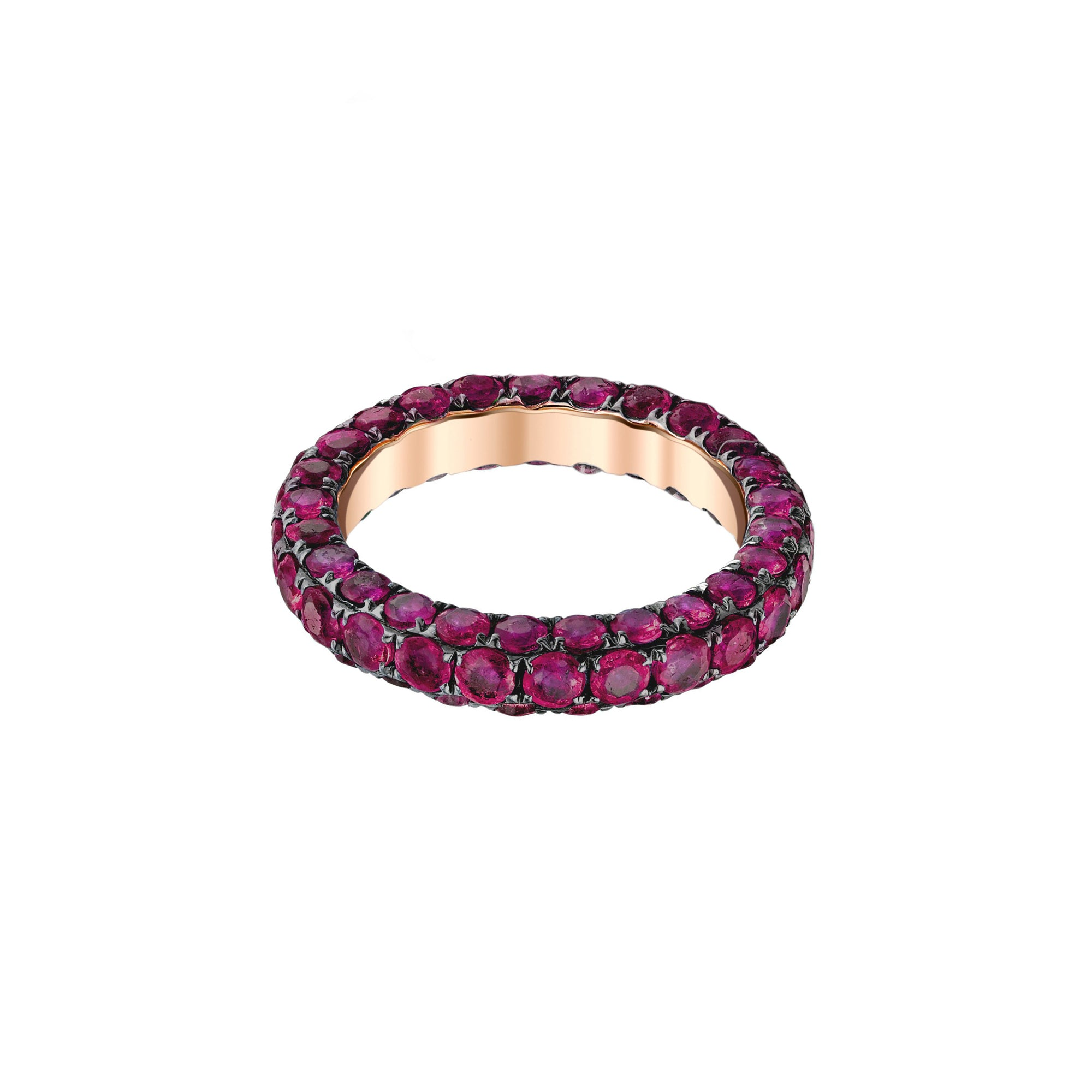 Shay 3 Sided Eternity Band - Ruby - Rings - Broken English Jewelry