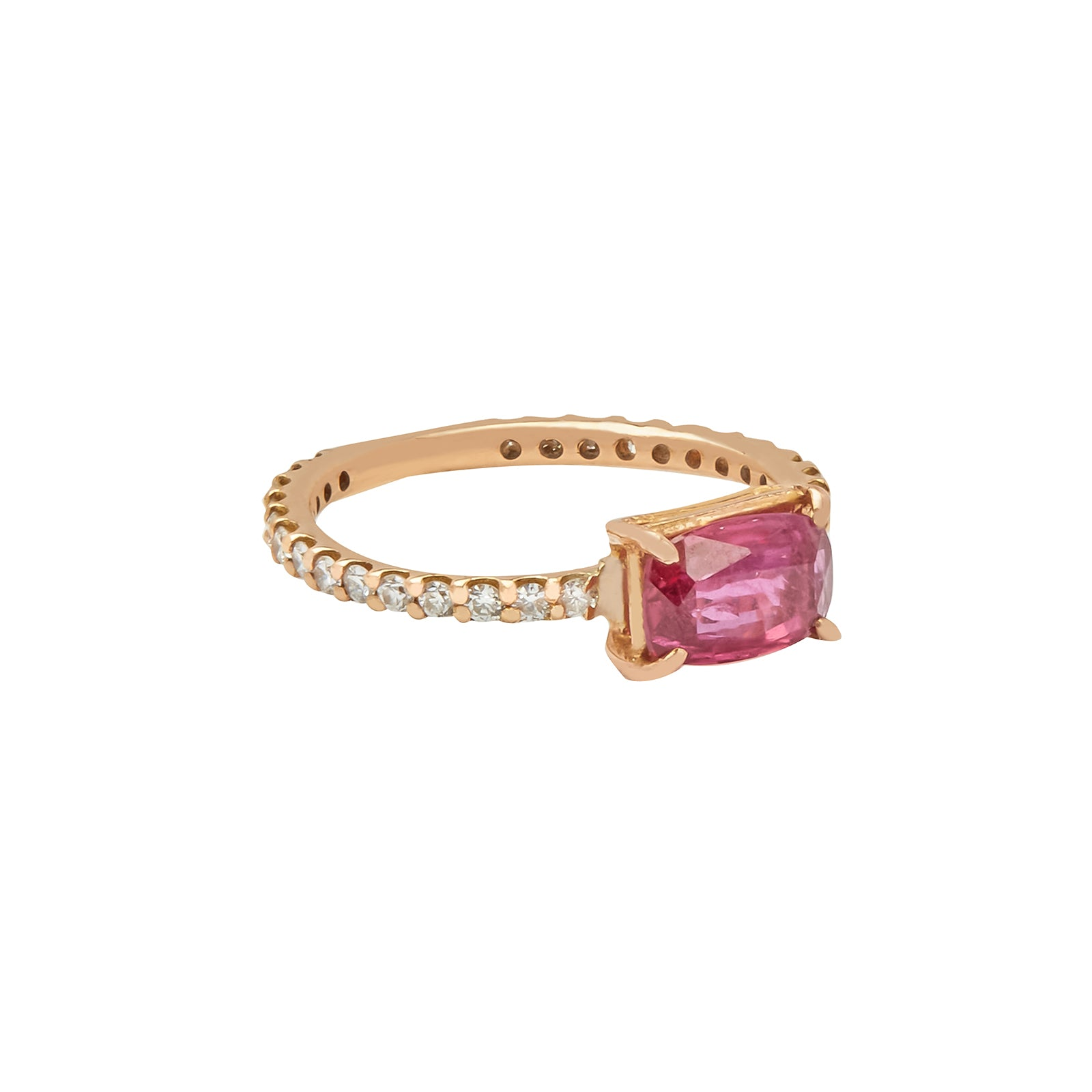 Shay Ruby Solitaire Ring - Rings - Broken English Jewelry