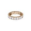 Shay Diamond Emerald Cut Eternity Band - Rose Gold - Rings - Broken English Jewelry