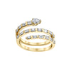 Shay Pear Spiral Baguette Triple Ring - Gold - Rings - Broken English Jewelry