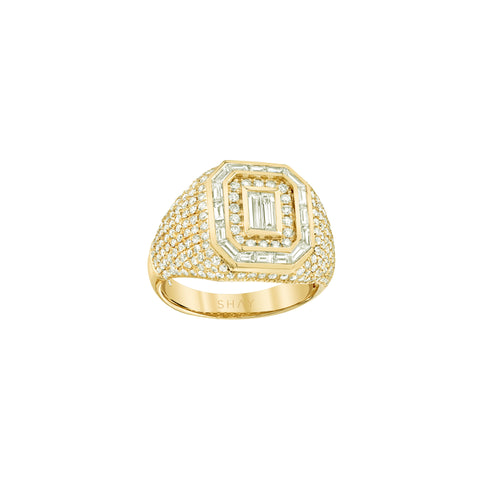 Pave Mixed Diamond Champion Ring - Shay - Rings | Broken English Jewelry