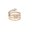 Shay Pear Spiral Baguette Quad Ring - Rose Gold - Rings - Broken English Jewelry