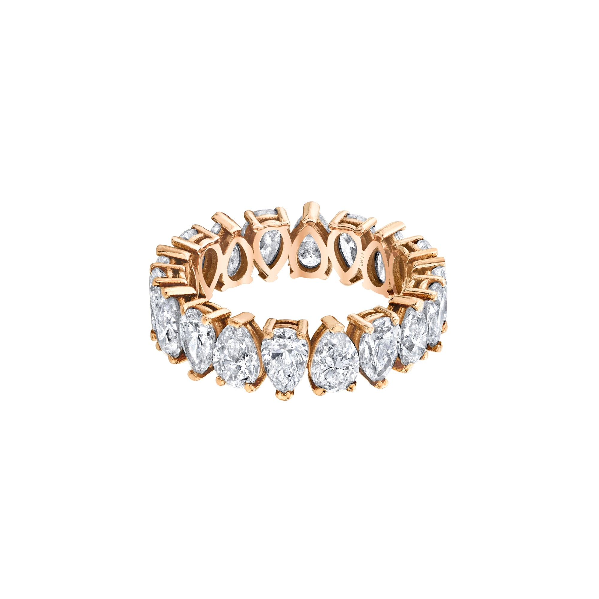 Shay Pear Eternity Ring - Rings - Broken English Jewelry