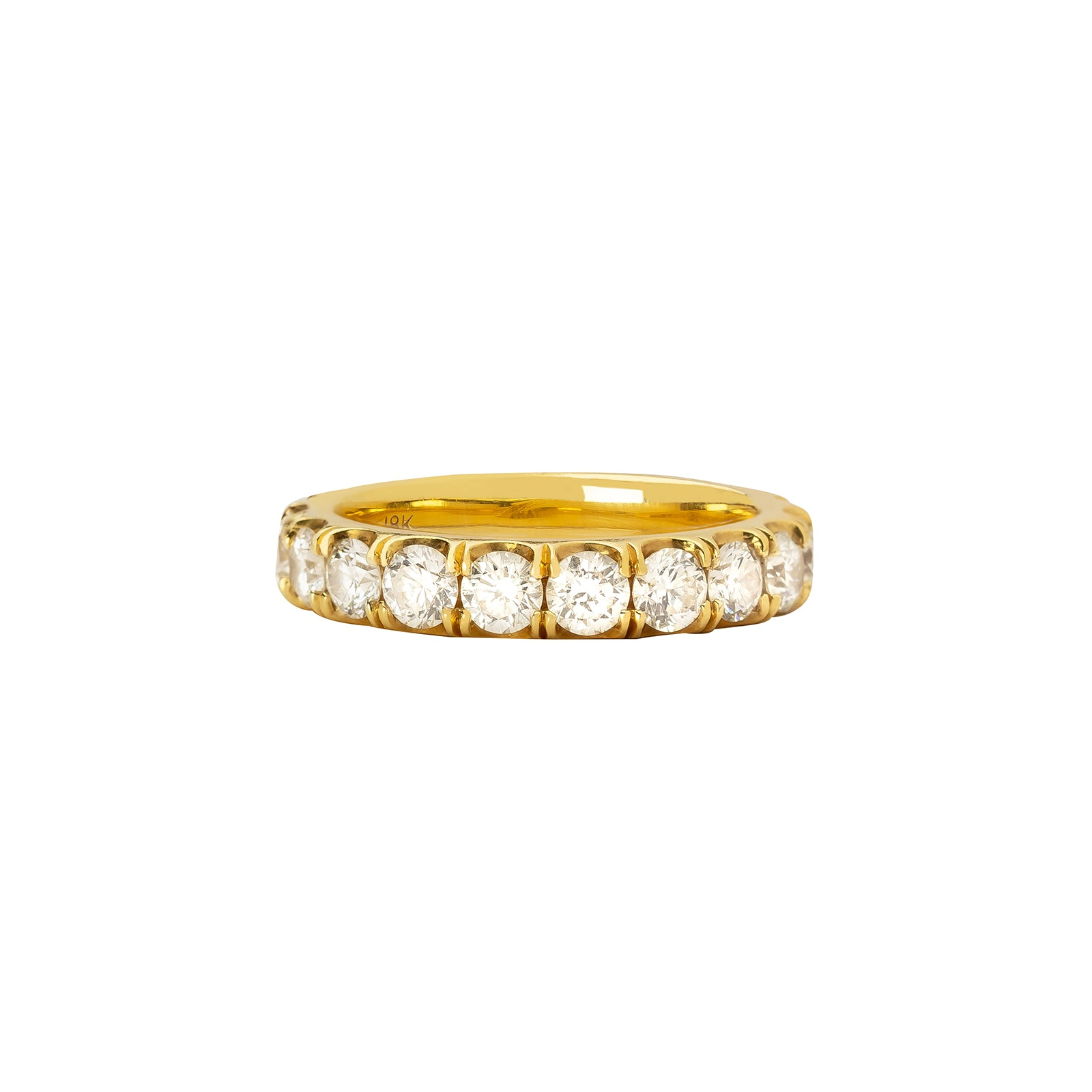 Shay Round Diamond Eternity Band - Yellow Gold - Rings - Broken English Jewelry