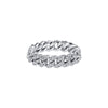 Shay Mini Pave Link Ring - White Gold - Rings - Broken English Jewelry