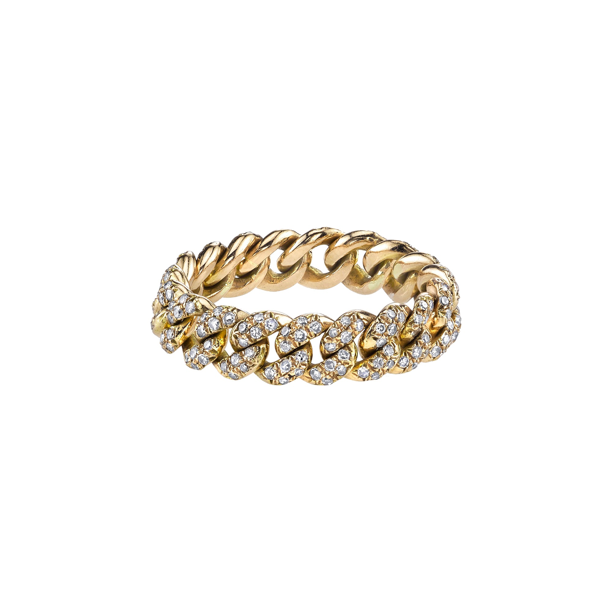 Shay Mini Pave Link Ring - Gold - Rings - Broken English Jewelry
