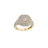 Shay Pave Baguette Diamond Pinky Ring - Gold - Rings - Broken English Jewelry