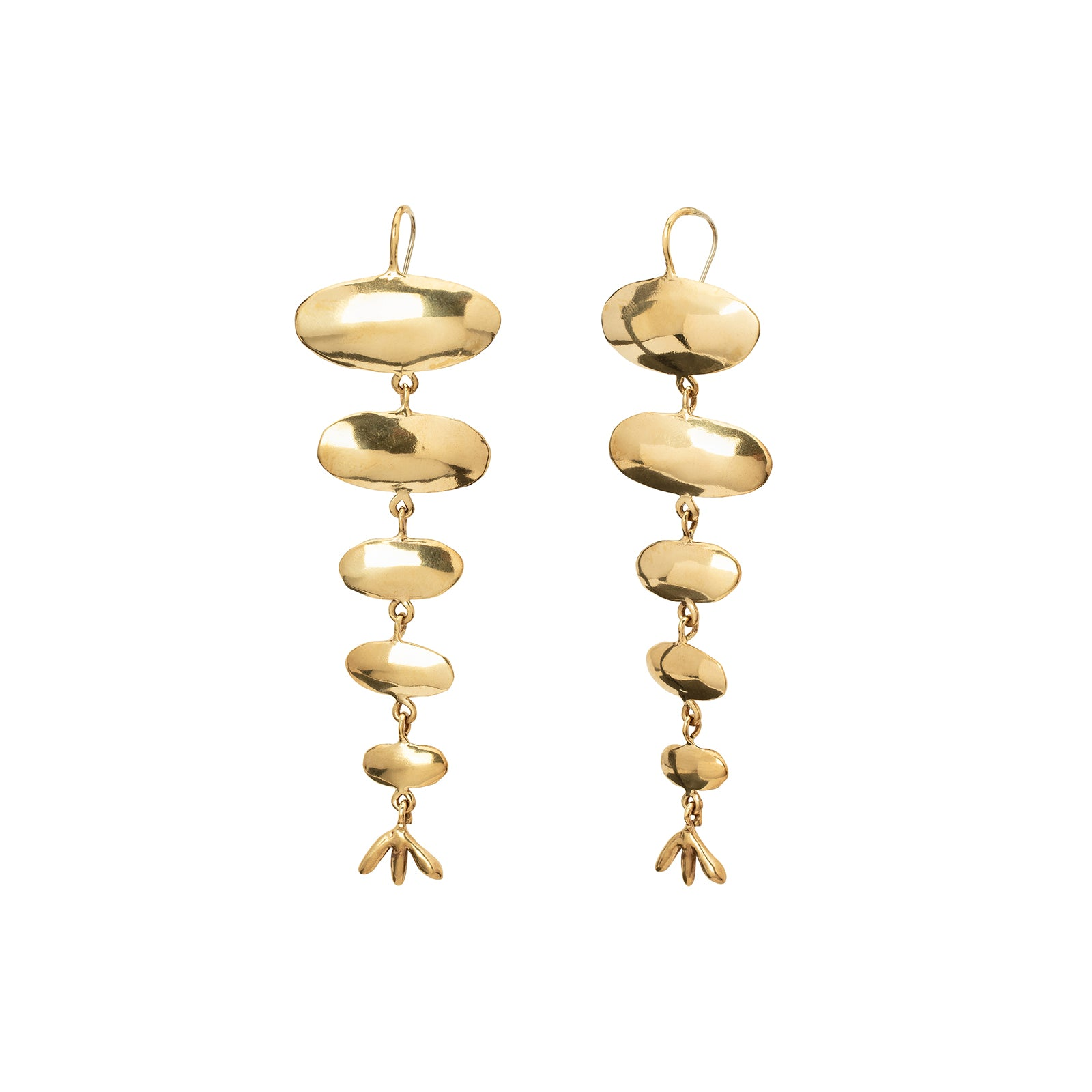 Ariana Boussard-Reifel Papyrus Long Earrings - Brass - Earrings - Broken English Jewelry