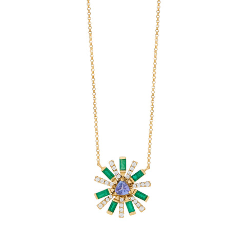 Emerald Sunshine Necklace - Carol Kauffman - Necklaces | Broken English Jewelry