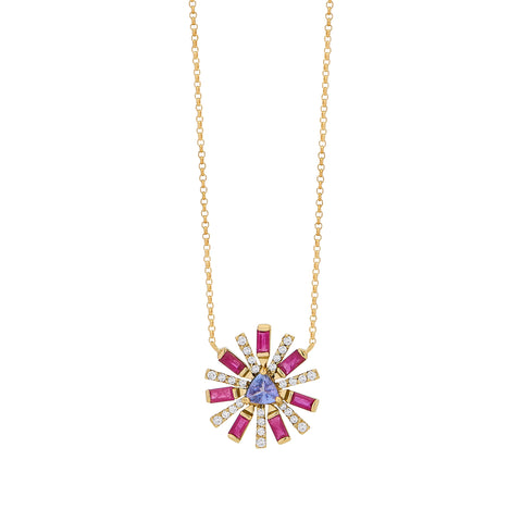 Ruby Sunshine Necklace - Carol Kauffman - Necklaces | Broken English Jewelry