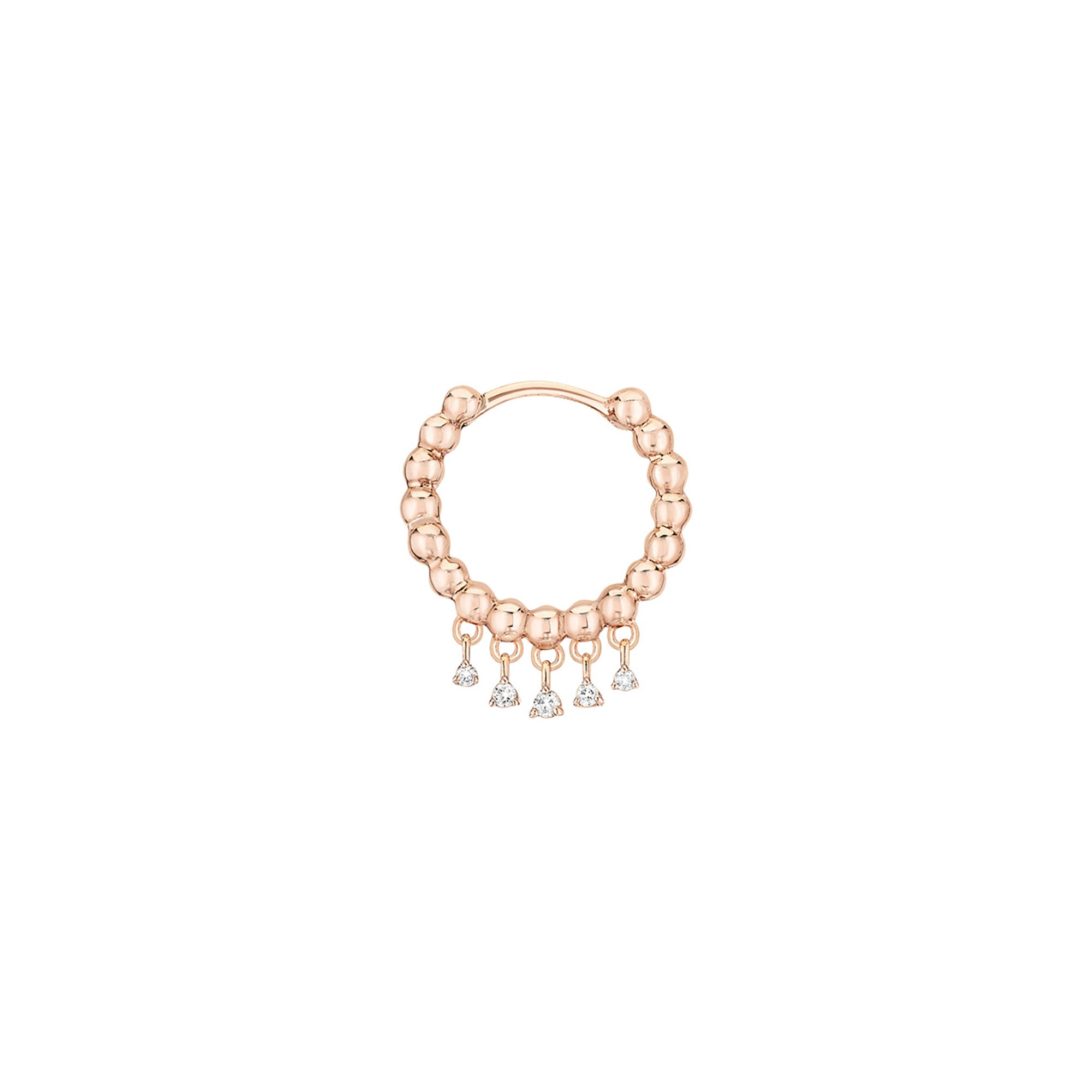 Stone Paris Talitha Tiny Hoop - Rose Gold - Earrings - Broken English Jewelry