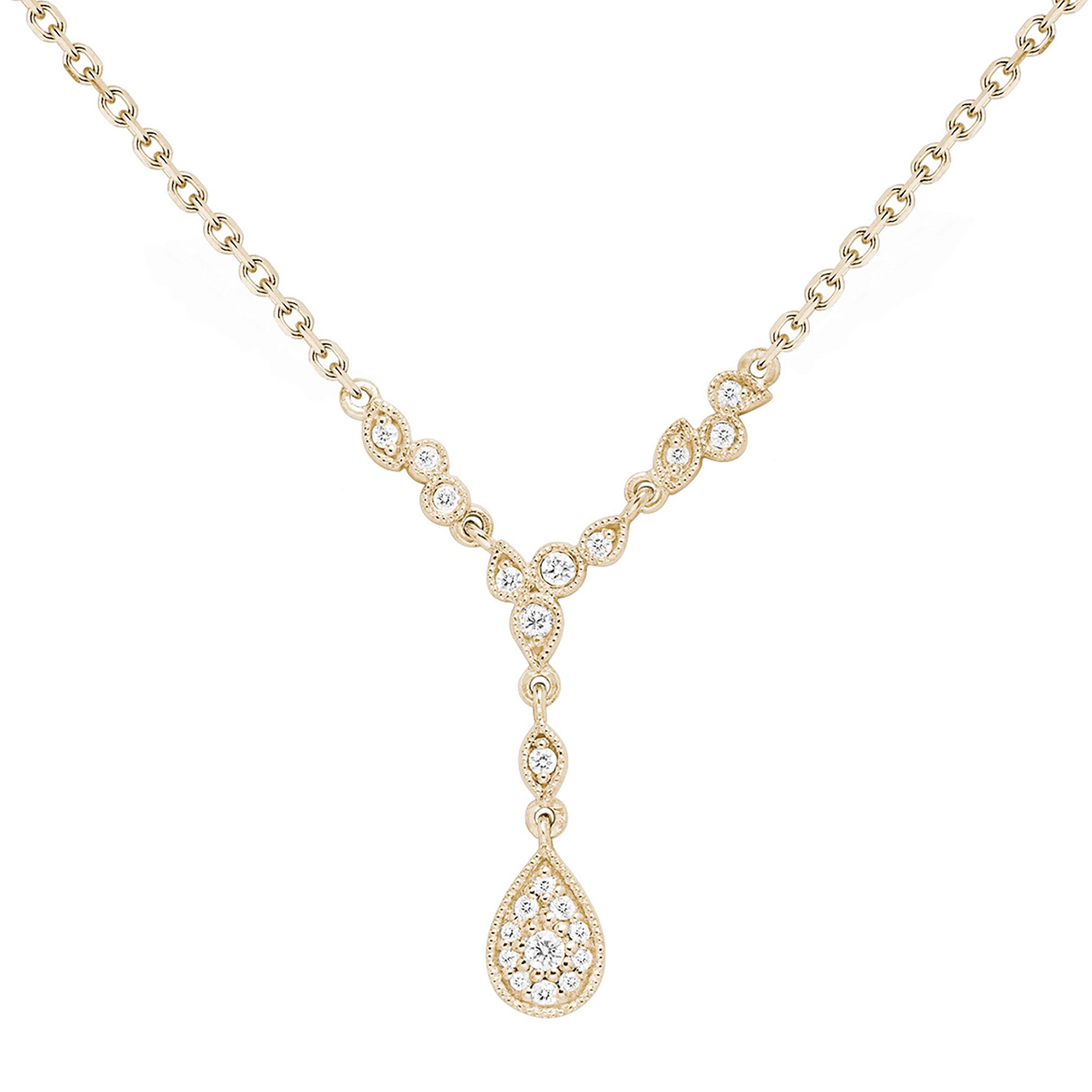 Stone Paris Jackie Necklace - Gold - Necklaces - Broken English Jewelry