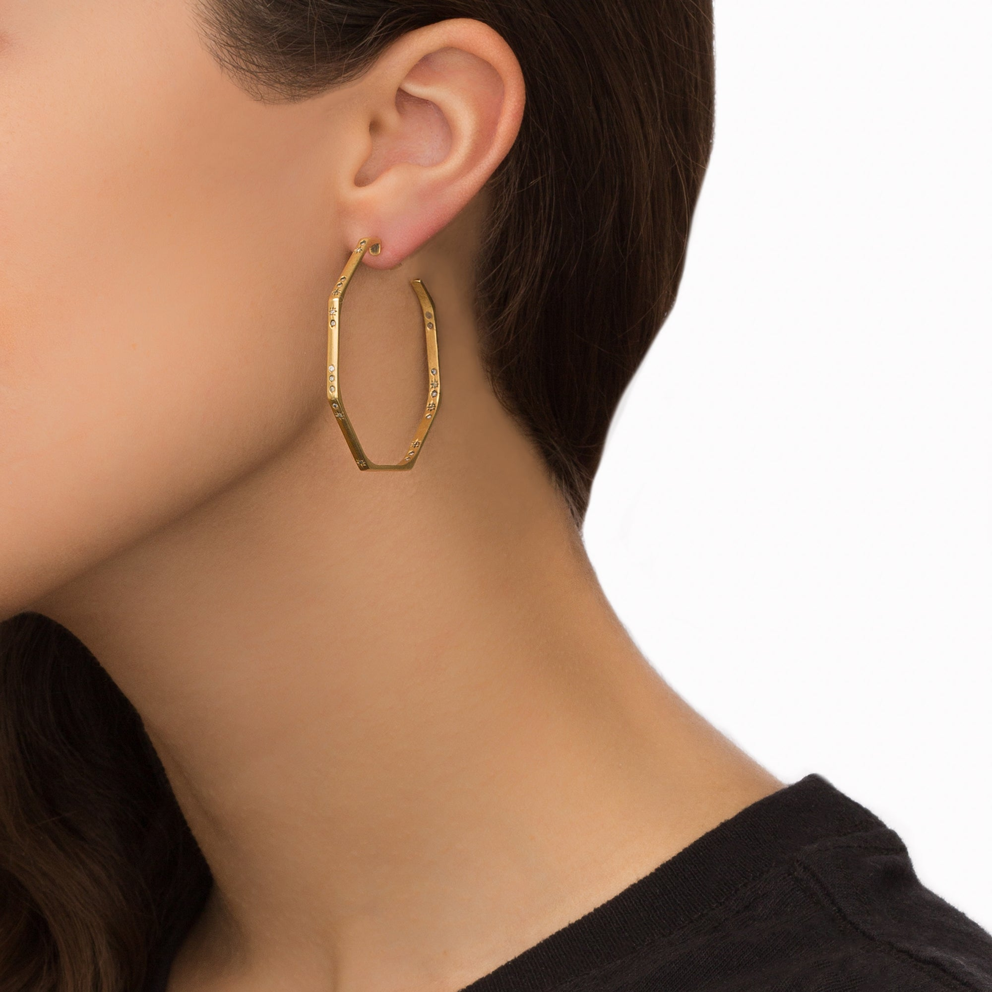 Octogon Hoop Earrings I - Suel - Earrings | Broken English Jewelry