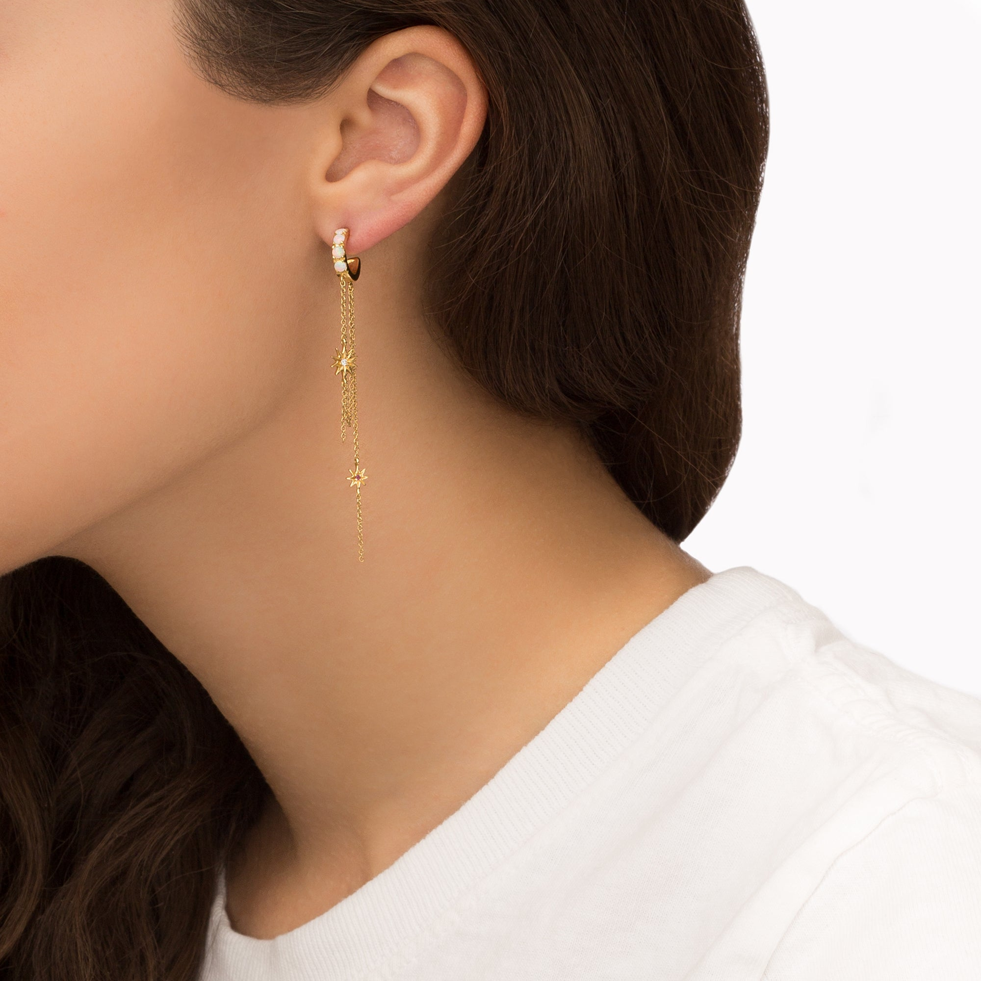 Sunshine Hoop Earrings - Suel - Earrings | Broken English Jewelry
