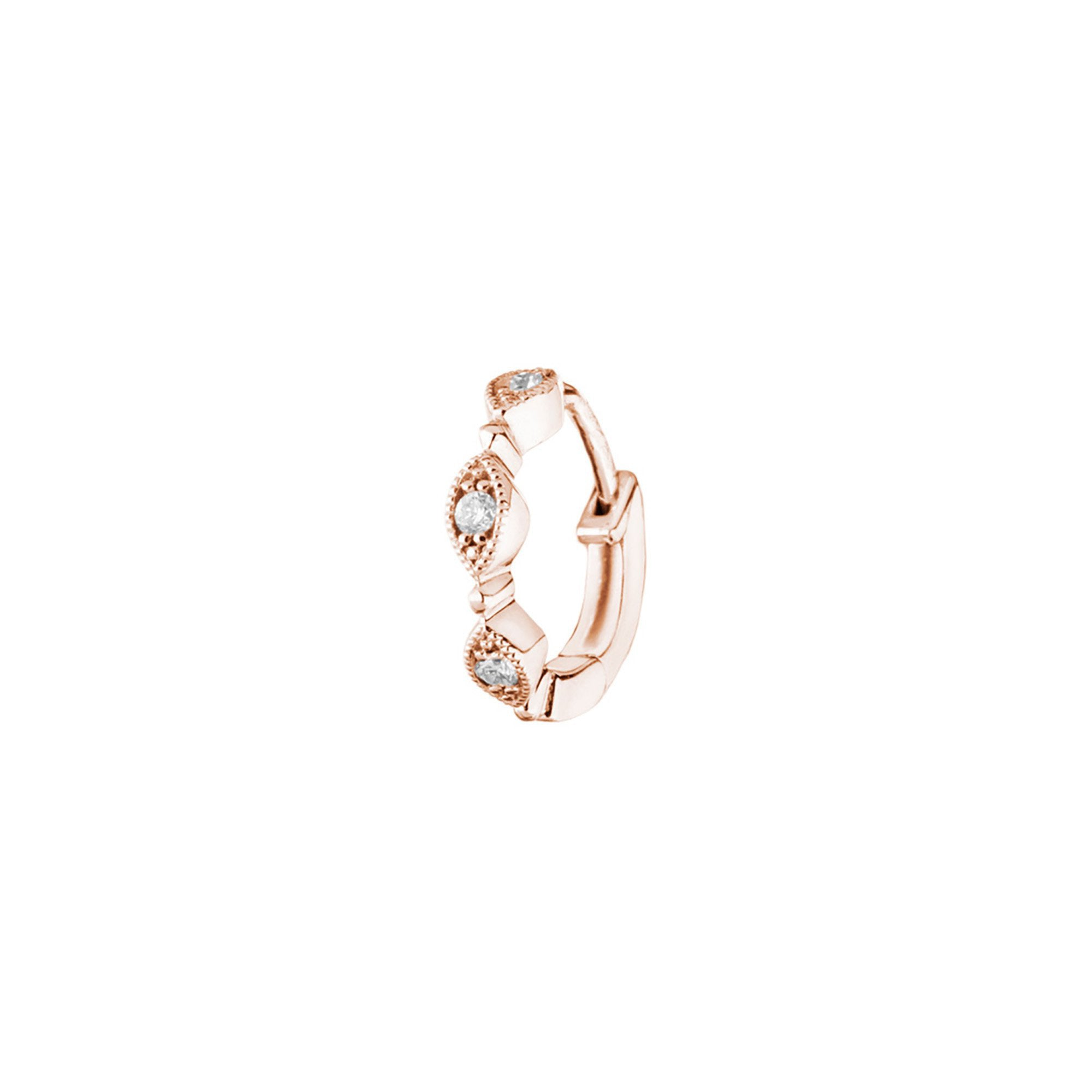 Stone Paris Yasmine Tiny Hoop - Rose Gold - Earrings - Broken English Jewelry