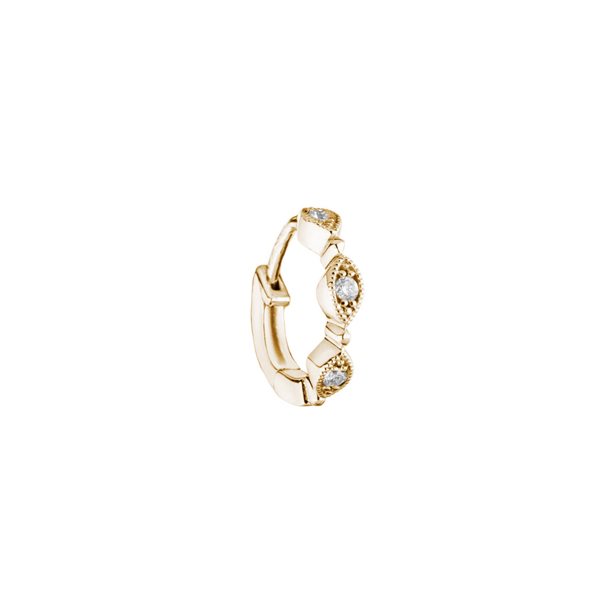 Stone Paris Yasmine Tiny Hoop - Gold - Earrings - Broken English Jewelry