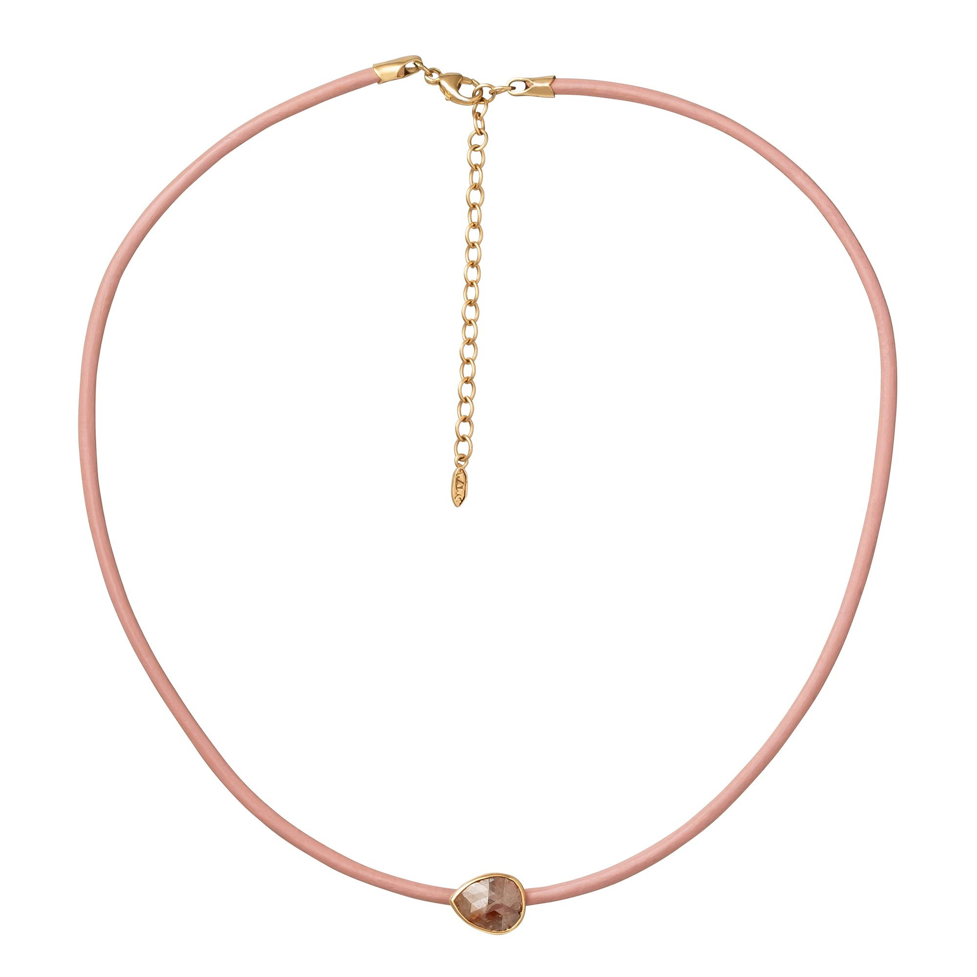 Xiao Wang Stardust Choker - Pink Leather - Necklaces - Broken English Jewelry