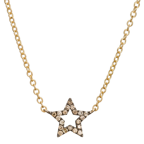 Rhodium Star Charm Necklace  - Rosa de la Cruz - Necklaces | Broken English Jewelry