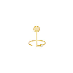 Simple Tendant Ring by Sibylle von Munster for Broken English Jewelry