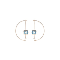 Topaz Arco Earrings by Sibylle von Munster for Broken English Jewelry