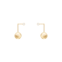 Simple Point Earrings by Sibylle von Munster for Broken English Jewelry