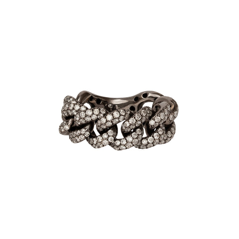 Essential Black Gold Pave Link Ring - Shay - Rings | Broken English Jewelry