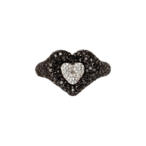 Diamond Heart Pave Pinky Ring - Shay - Rings | Broken English Jewelry