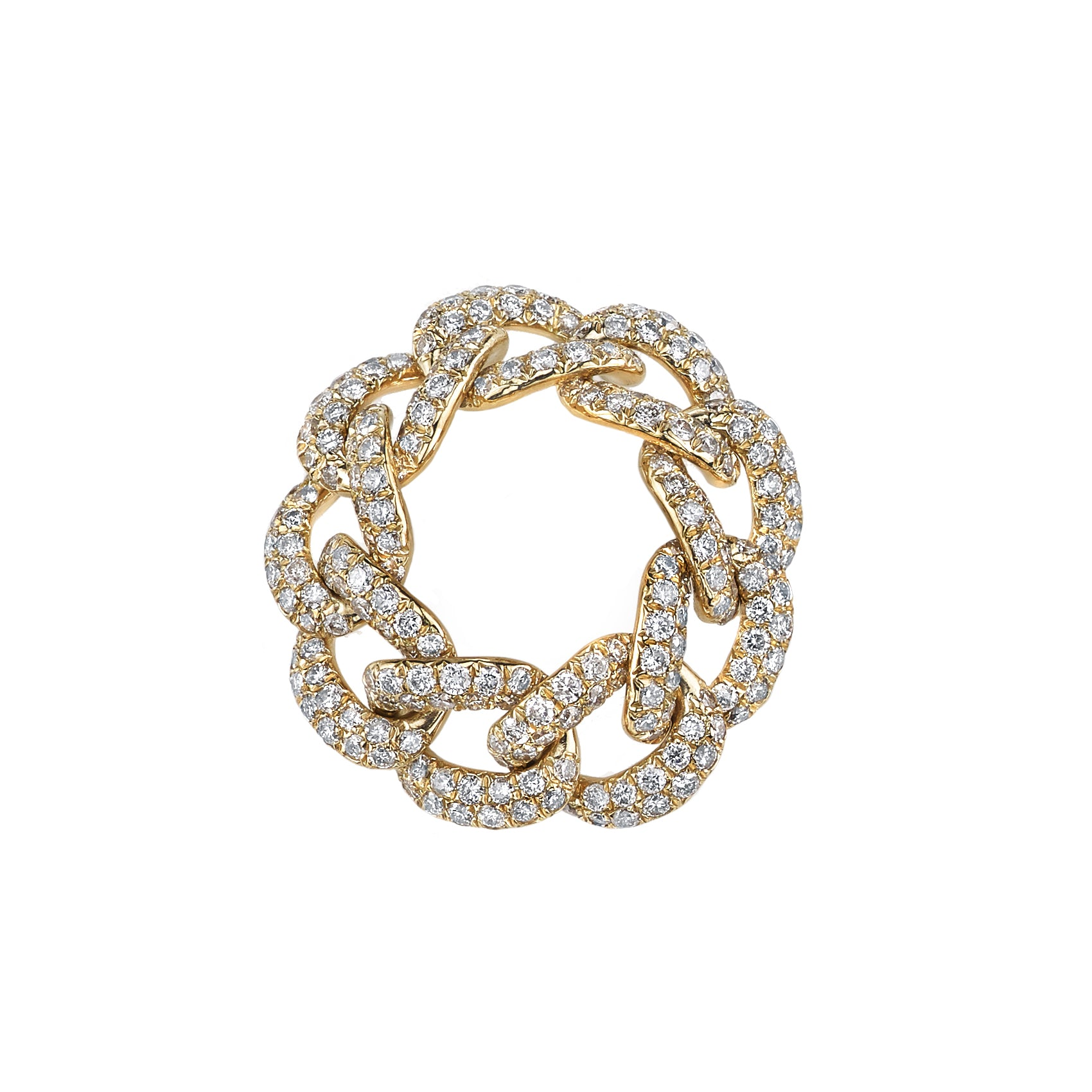 Shay Full Link Pave Diamond Ring - Rings - Broken English Jewelry