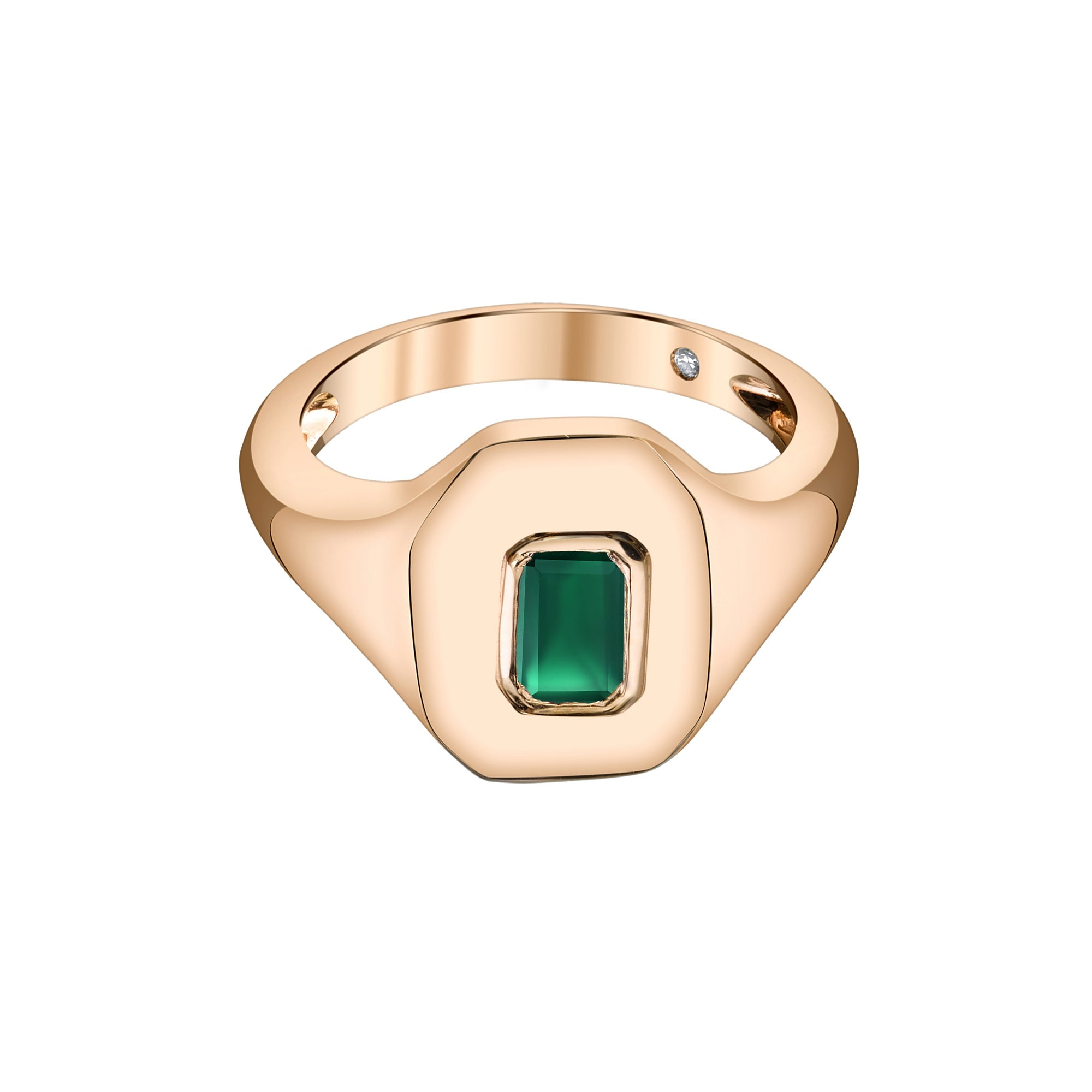 Emerald Baguette Pinky Ring by Shay for Broken English Jewelry