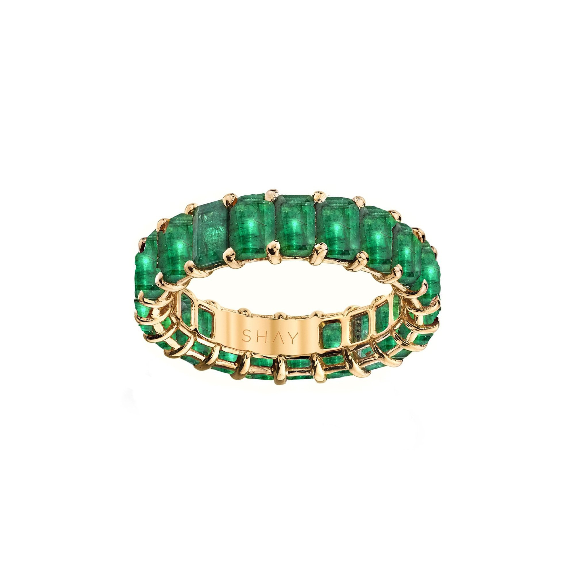 Shay Emerald Eternity Band - Rings - Broken English Jewelry