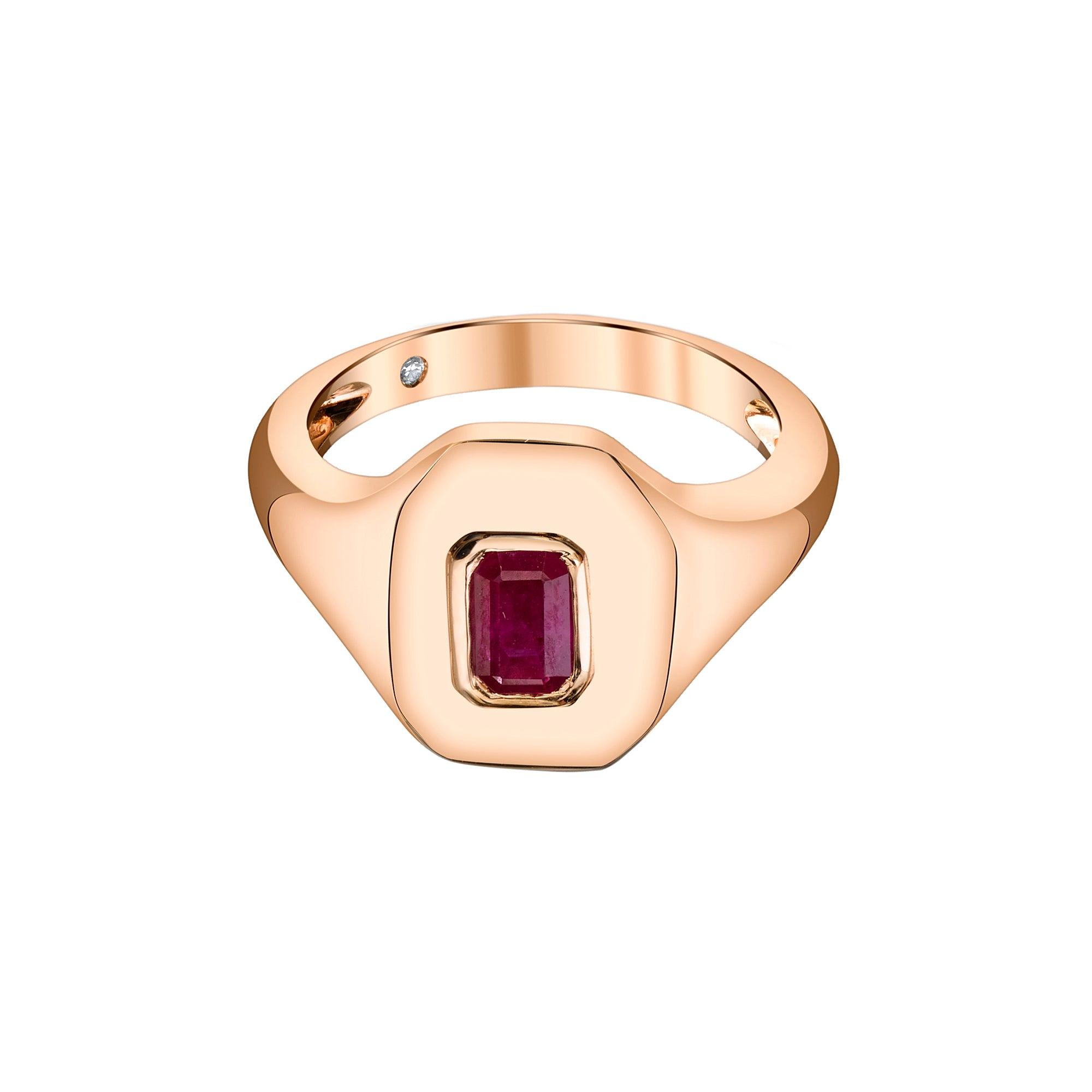Baguette Ruby Essential Pinky Ring - Shay - Rings | Broken English Jewelry