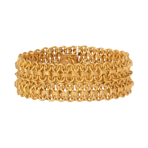Gold Mesh Bracelet - Shay - Bracelets | Broken English Jewelry