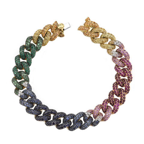 Rainbow Essential Link Bracelet by Shay for Broken English Jewelry