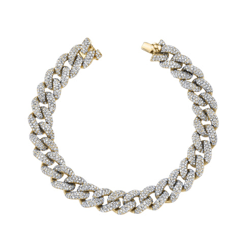 Pave Diamond Essential Link Bracelet - Shay - Bracelets | Broken English Jewelry