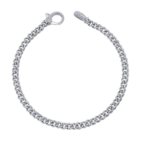 Baby Pave Link Bracelet - Shay - Bracelets | Broken English Jewelry