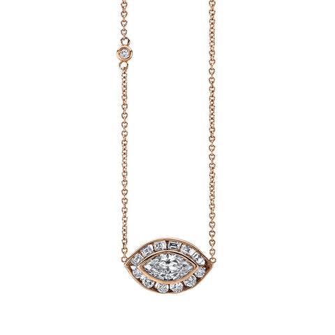 Marquise Evil Eye Necklace by Shay for Broken English Jewelry