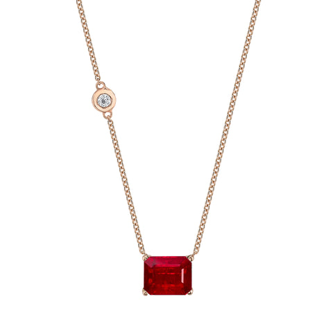 Ruby Pendant Necklace - Shay - Necklaces | Broken English Jewelry