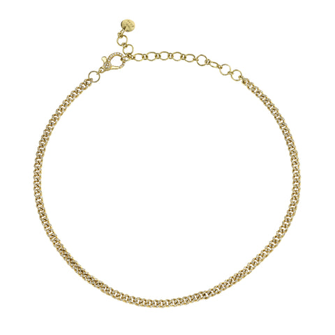 Baby Link Pave Choker - Shay - Necklaces | Broken English Jewelry