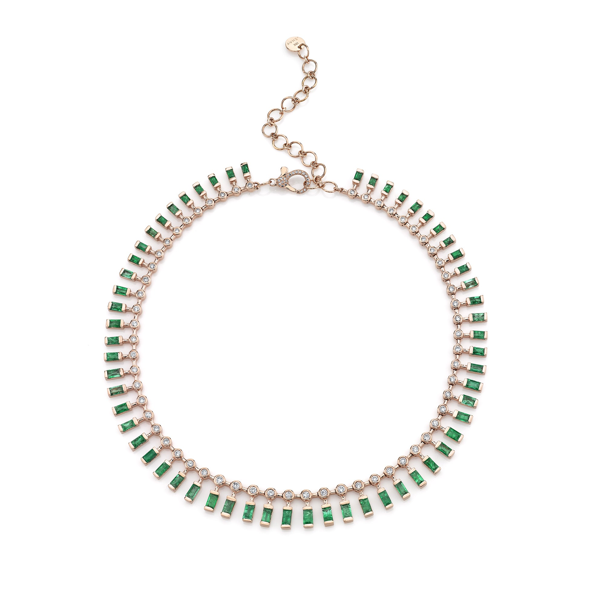 Dot Dash Emerald & Diamond Necklace by Shay for Broken English Jewelry