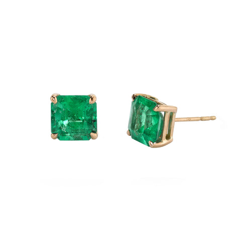 Columbian Emerald Studs by Shay for Broken English Jewelry